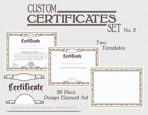 Certificate template set diy award certification diploma document certificate template set diy award certification diploma document clipart images download printable graphic design clip art kit no 2 from graficaitalia on yadclub
