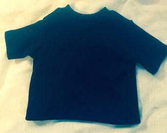 """Boy doll t-shirt navy blue doll tshirt boy doll 18"""" boy doll t-shirt"""