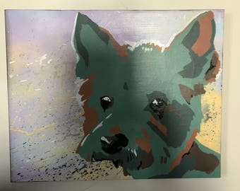 Custom Pet Painting. Pet Stencil Paintings Now Avaliable on Streched Canvas. Free Domestic Shipping