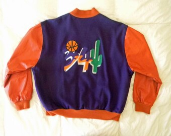 Vintage Phoenix Suns Charles Barkley Varsity Letterman Jacket