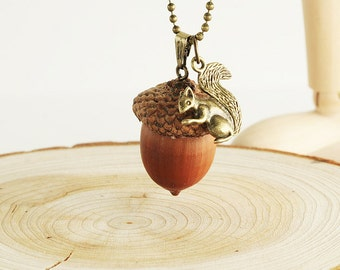 Acorn Nut Necklace-k004