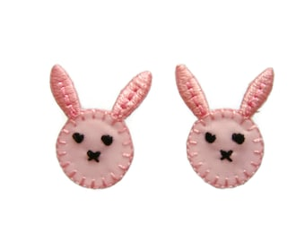 Rabbit Patches Kawaii Patch Applique Embroidered Iron on Patch