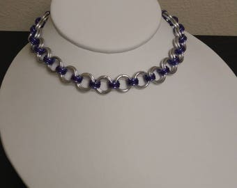 "Two-Tone Purple ""Princess"" Chainmaille Day-Collar"