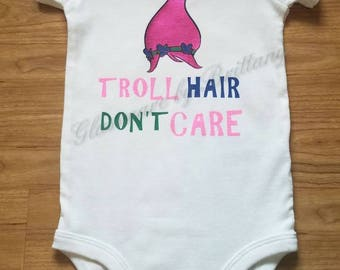 Troll hair don't care baby shirt