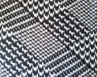 Black & White Patch Fleece Fabric (35 inches)