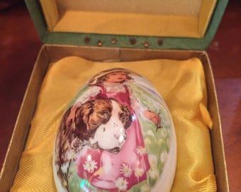1977 Royal Bayreuth Collector China Easter Egg