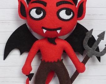 PDF pattern to make a felt Devil.
