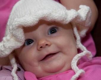 Snowy White Baby Girls Sunhat 3-6 months