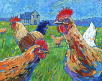 Chicken Run (Oil painting)