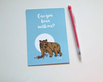 Can you Bear with me? Postcard - Animal Collection