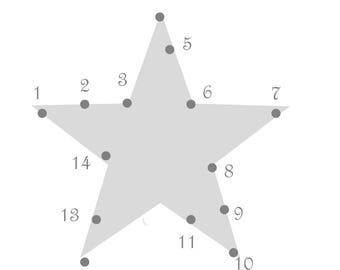 Star dot to dot pattern fabric