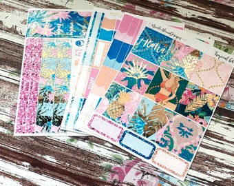 FOIL Tropical B6 Kit, planner stickers