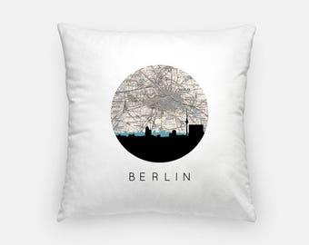 Berlin pillow | Berlin Map Pillow | Berlin Germany pillow | Berlin home decor | throw pillow | city skyline pillow
