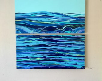 "Rolling Waves 12""x 24"" each"