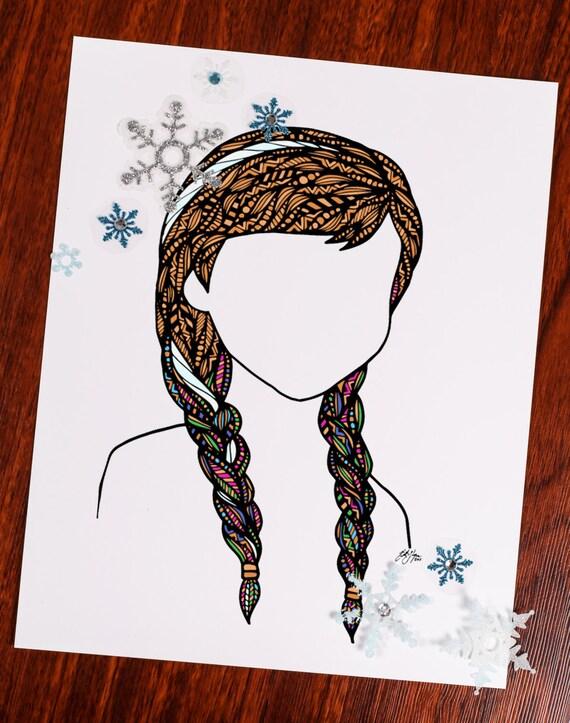 Frozen Strip of Hair Print