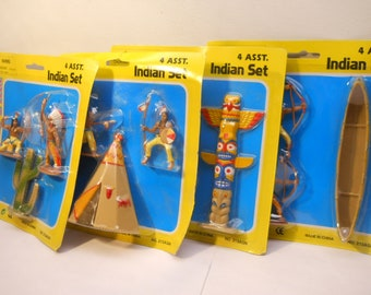 Wild Frontier Western Toys Pretend Play Indian Sets 4 Diff asst Sets Native Wild West 1 ct # 165