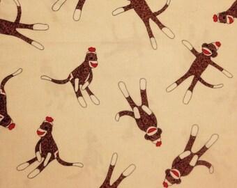 Gele Sock Monkey weefsel door Erin Michael voor Moda, 100% katoen Yardage