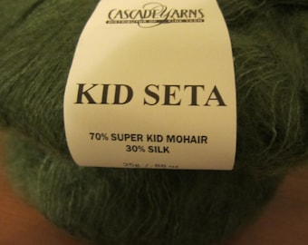 Kid Set by Cascade Yarns with Super Kid Mohair & Silk - very very soft (emerald green)