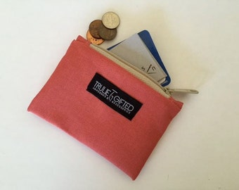 Coin Purse and Zipper Pouch in Blush