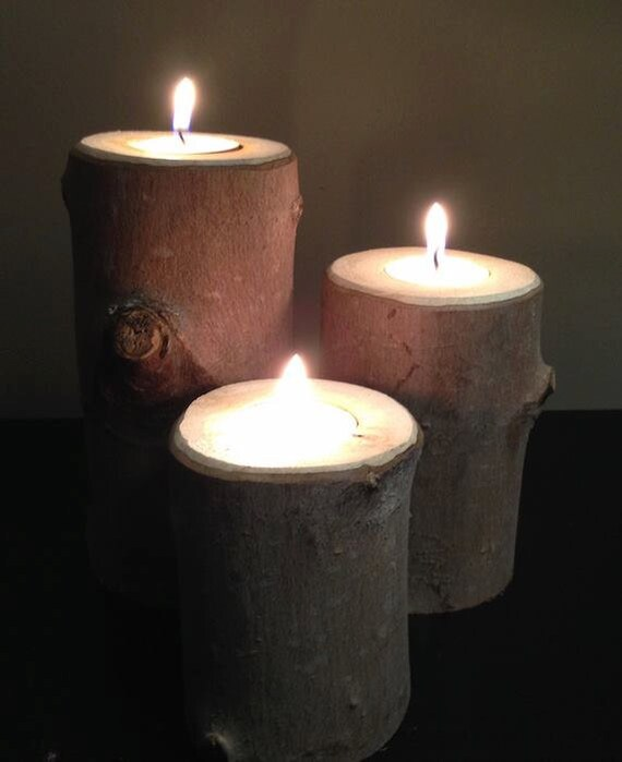 Rustic Wooden Tea Light Holder Free Shipping: Rustic Twig Tea Light Holder Set Of 3 Free Shipping