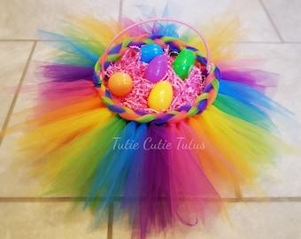 Rainbow Tutu Easter Basket