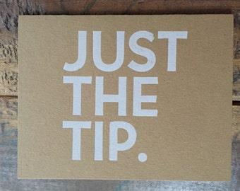 Just The Tip Letterpress Folded Card