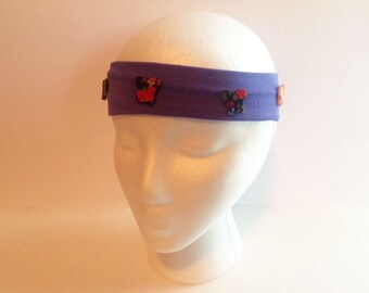 Purple Headband, Butterfly Headband, Ladies Headband, Teen Headband, Girls Fancy Headband, Woman's Headband, Womans Headband, Headband  FH53