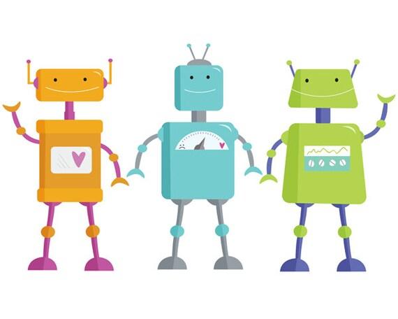 robot clip art clipart for kids birthday clipart clipart rh etsy com robot clipart image robot clip art images