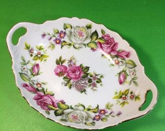 Porcelain Oval Dish Antique Foley