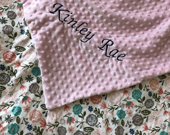 Pastel Floral Blanket