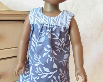 Cool, summer blue doll dress for Wellie Wisher or Hearts for Hearts doll