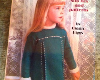 Vintage 1972 Knitting Stitches and Patterns Book Diana Biggs