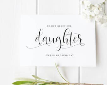 Daughter wedding card, Wedding Day card for Daughter Wedding Card from Parents