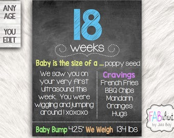 Week by Week Pregnancy Sign, Editable Pregnancy board,  Pregnancy Countdown Chalkboard, Maternity Sign, Baby Bump Photo Prop Printable