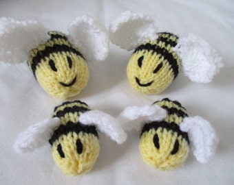 Hand Knitted Busy Bumble Bee Family Stuffed Toys/Novelties - Great for nurseries/schools or just your home!