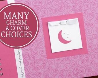 Baby Record Book   Baby Book   Baby Journal   Memory Book Baby   Baby Girl Record Book   Personalized Baby Memory Book   Pink Swirls & Moon