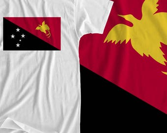 Papua New Guinea - Flag - Iron On Transfer