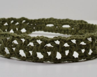 Cotton Headband Crocheted Comfortable Hair Band Choose Color and Style
