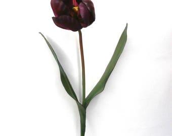 Artificial Purple Tulip Floral Stem Artificial Flower Artificial Leaves Artificial Orchid Silk Flowers Flux Flowers Artificial Floral