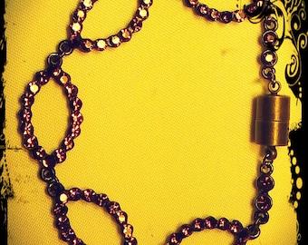 Vintage Gunmetal Magnetic Clasp Bracelet