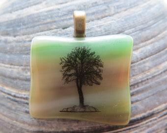 0050 - Tree Fused Glass Pendant