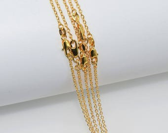 thin Rolo with Gold Filled clasp, chain 52 cm individually