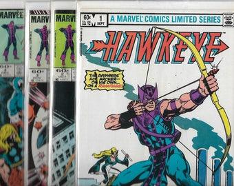 """Avengers""""HAWKEYE"""" 1983 Mini-Series #1-#4 complete"""