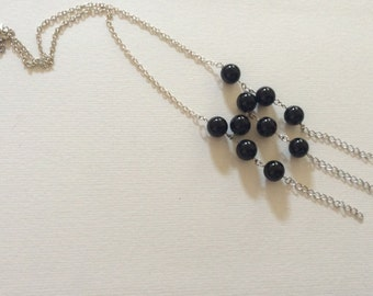 Statement necklace with Onyx