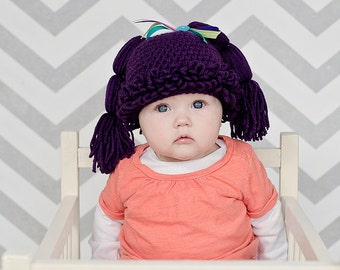 Cabbage Patch Hat/Halloween Wig/Halloween Hat/Cabbage Patch Wig