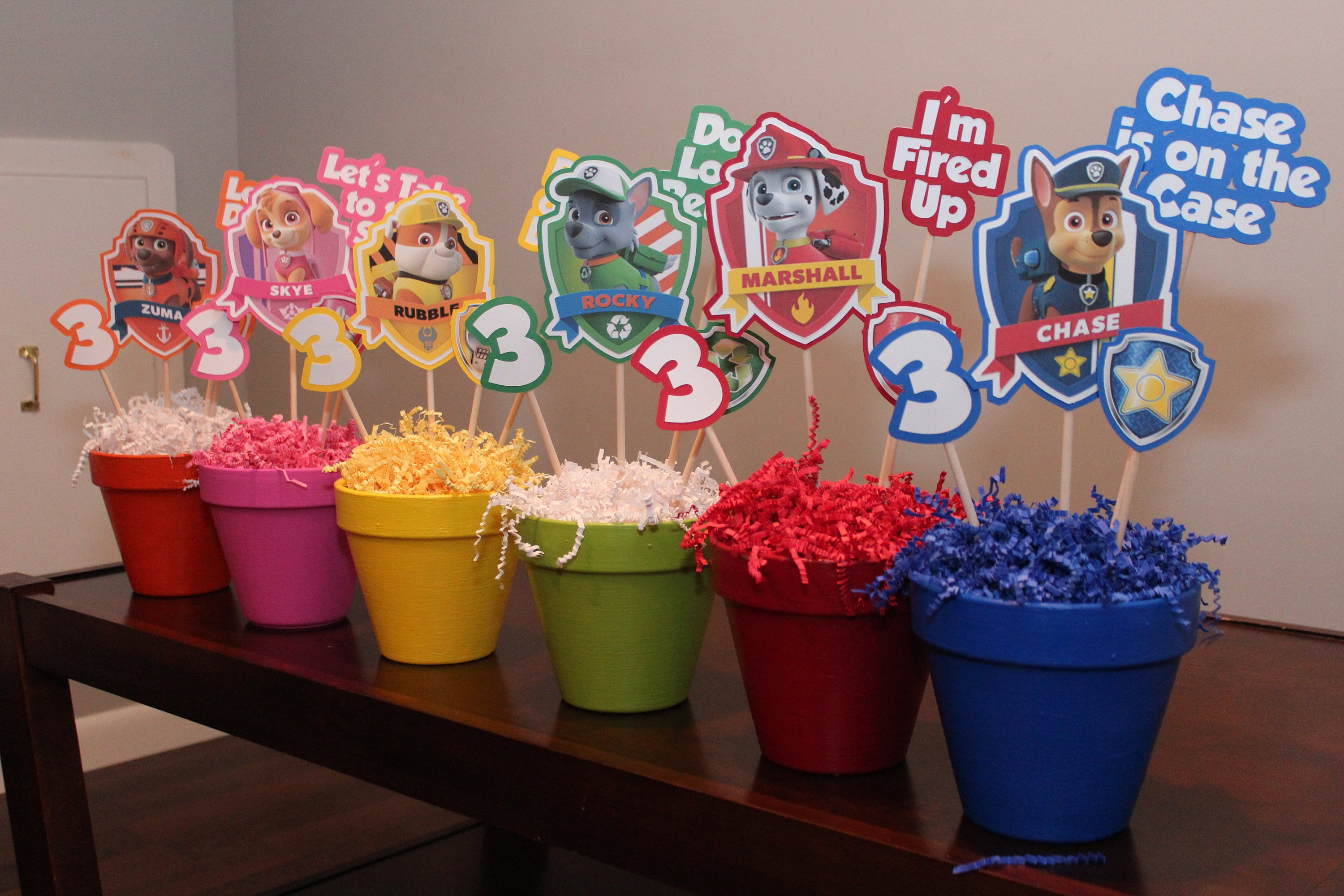 Paw Patrol Centerpiece Set Of 6Paw Birthday