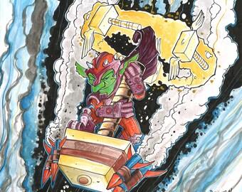 Goblin Retribution Paladin World of Warcraft fan art by Dennis A!