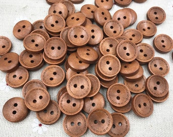 Wooden Buttons sewing Scrapbooking Craft 15mm