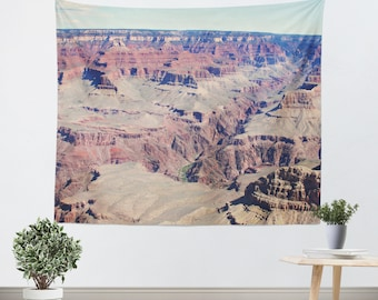 Grand Canyon Tapestry - Wall Hanging - Photo Tapestry - Nature Tapestry - Grand Canyon - Landscape Tapestry - Dorm Tapestry - Southwest