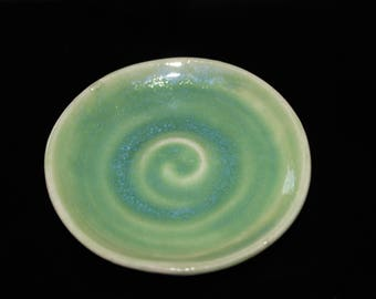 Ring dish, jewelry dish, hand-thrown pottery ring dish, cream Clay Ring Dish - Pottery Ring Dish, Tea Bag Dish, Trinket Dish, Coin Dish